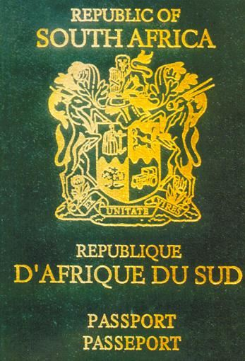 passport suedafrika